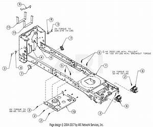 Troy Bilt Super Bronco 50  13wqa2kq011   2017  Parts Diagram For Frame