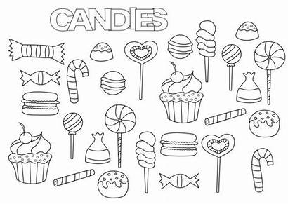 Coloring Candy Bar Template Hand Drawn Sweet