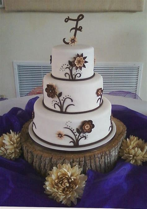 rustic cakes   bridal shower  cake