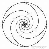 Spiral Coloring Mandala Golden Ratio Geometric Pattern Swirl Shapes Templates Adult Stencil Template Printable Patterns Spirals Circles Dot Swirls Shape sketch template