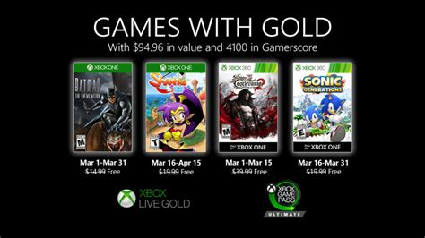 novedades de games  gold  marzo  xbox wire