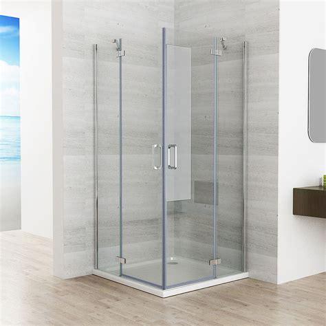 pendeltür dusche 90 cm 90 x 90 cm duschkabine eckeinstieg duschwand duschabtrennung dusche nano glas jp ebay