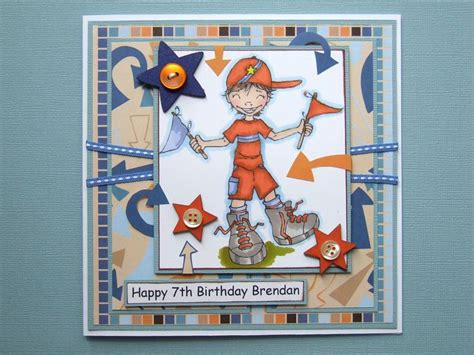 birthday card   year  boy handmade cards