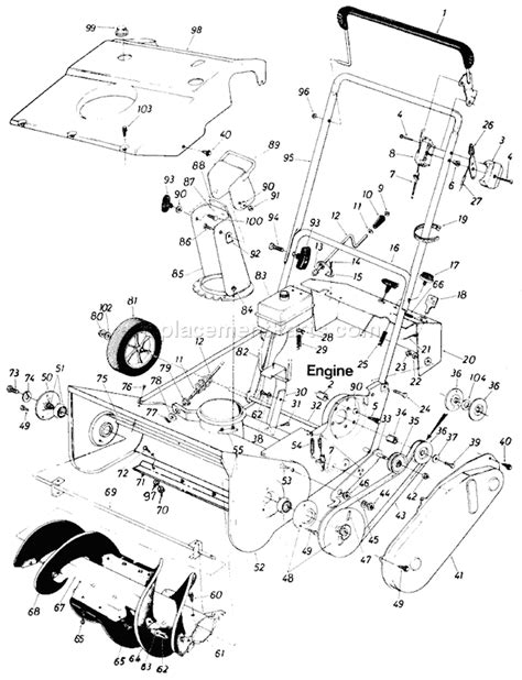 Mtd 10 Hp Wiring Diagram by Mtd 316 150 000 Parts List And Diagram 1986
