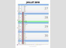 calendrier juillet 2018 à imprimer