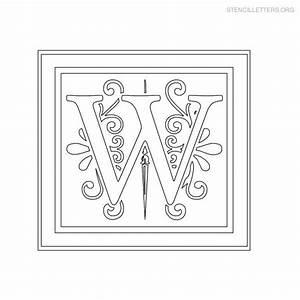 stencil letters w printable free w stencils stencil With decorative letter stencils