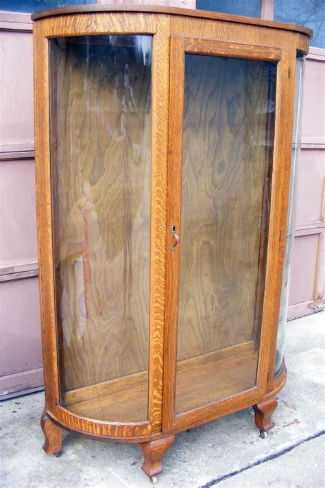 vintage glass display cabinet oak glass display 6803