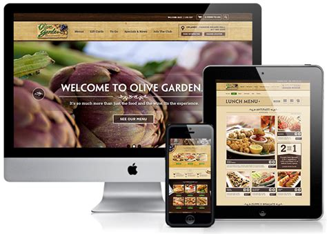 olive garden website olive garden site on behance