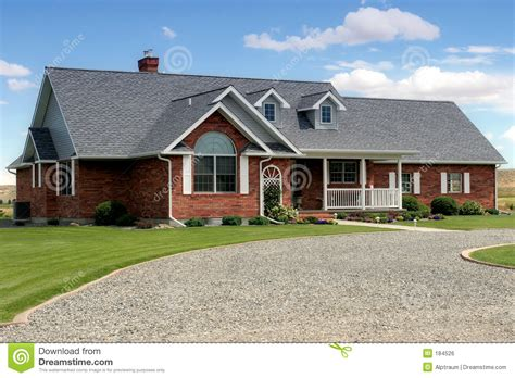 House With Driveway Stock Photo Image Of Property, Estate