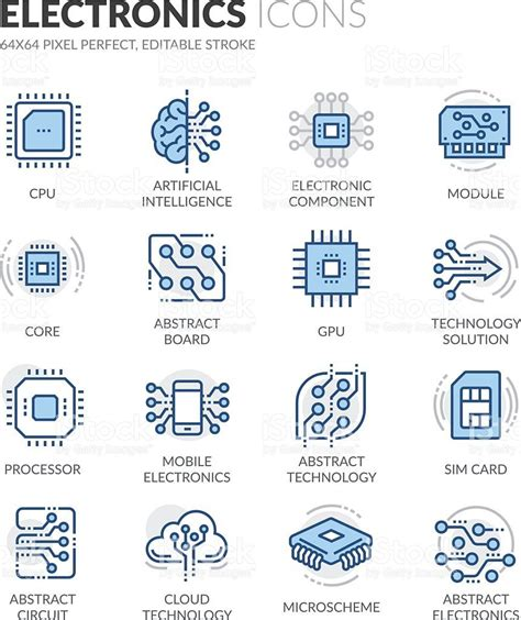 Simple Set Electronics Related Color Vector Line Icons
