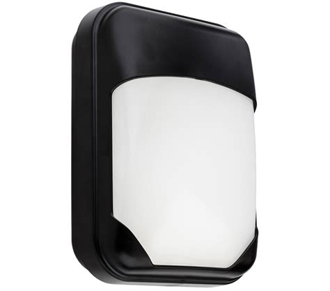 firstlight pinto led outdoor wall light black polycarbonate with opal diffuser 4913bk from