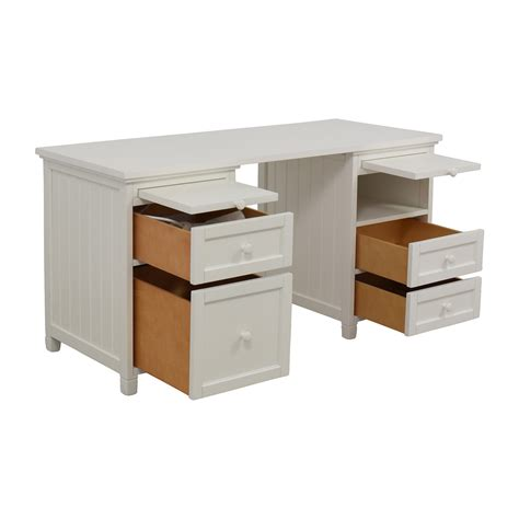 74% Off  Pottery Barn Pottery Barn Offwhite Fourdrawer. Ikea Butcher Block Table Top. Best Desks For Gaming. Craftsman Drawer. Gold Pedestal Table. Baby Drawer. Standing Desk Stool. Camo Table. L Desk White