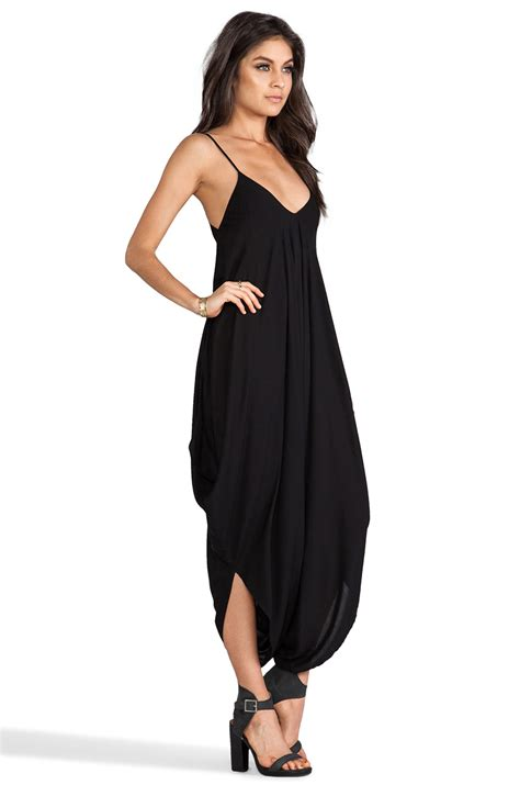 all black jumpsuit indah ivory all in one jumpsuit in black lyst