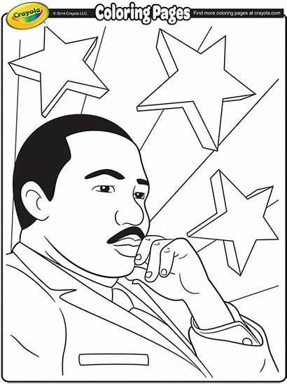 Luther Martin King Coloring Crayola Jr Pages