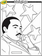 Luther Martin Coloring King Jr Crayola Pages sketch template