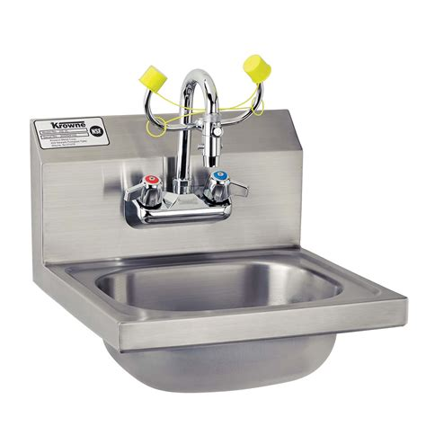 Eyewash Faucet Home Depot by Krowne Hs 36 Eye Wash Sink 16 Quot Wide Culinary Depot