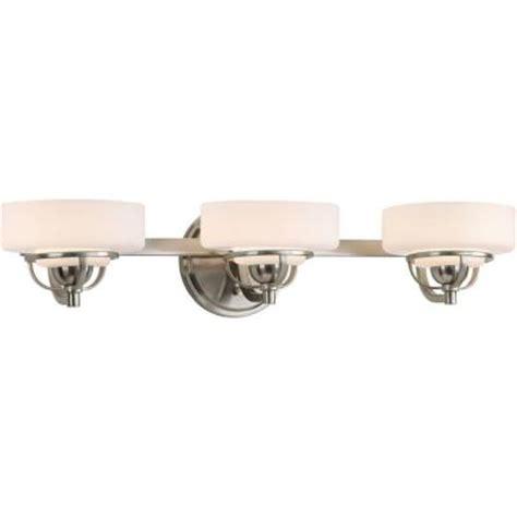 bathroom light fixtures brushed nickel home depot progress lighting torque collection 3 light brushed nickel