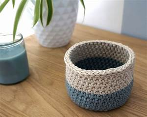 Corbeille Au Crochet : petite maille le crochet c 39 est pas ringard panier au crochet ~ Preciouscoupons.com Idées de Décoration