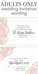Adults only wedding invitation wording wedding help for Wedding invitations wording for adults only