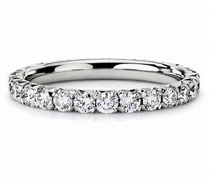 French Pav Diamond Eternity Ring In Platinum Blue Nile