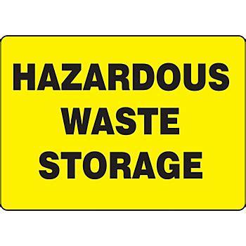 Hazardous Waste Storage Sign  Sgn545  New Pig