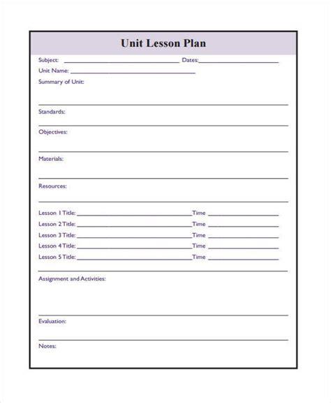 printable lesson plan 17 lesson plan sles templates sle templates