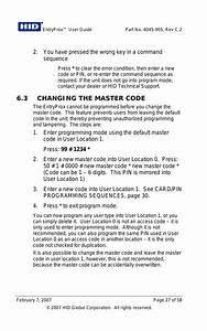 3 Changing The Master Code