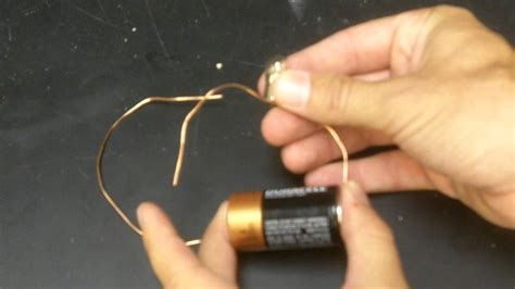 light bulb battery and two wires