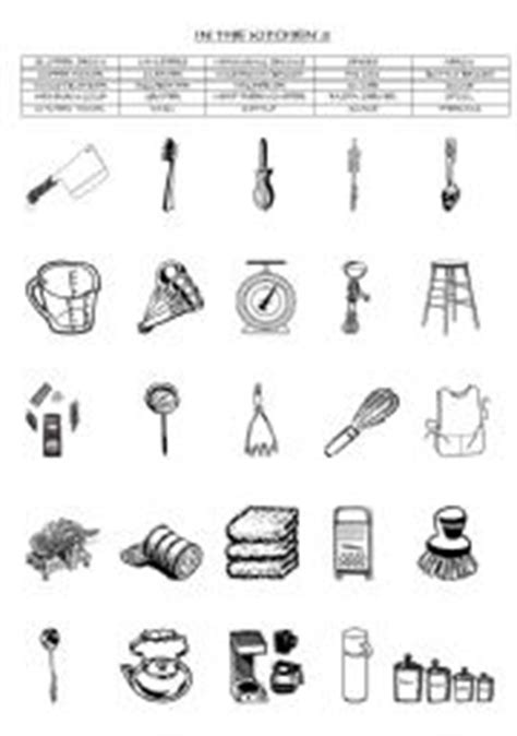 Kitchen Equipment Worksheet Answers by Teaching Worksheets In The Kitchen