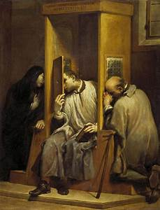 """St John of Nepomuk Hearing the Confession of the Queen of ..."