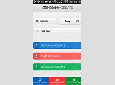 Indian Holidays Calendar App for iPhone and Android New