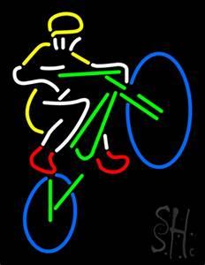 Mountain Biker Neon Sign Bike Neon Signs Every Thing Neon