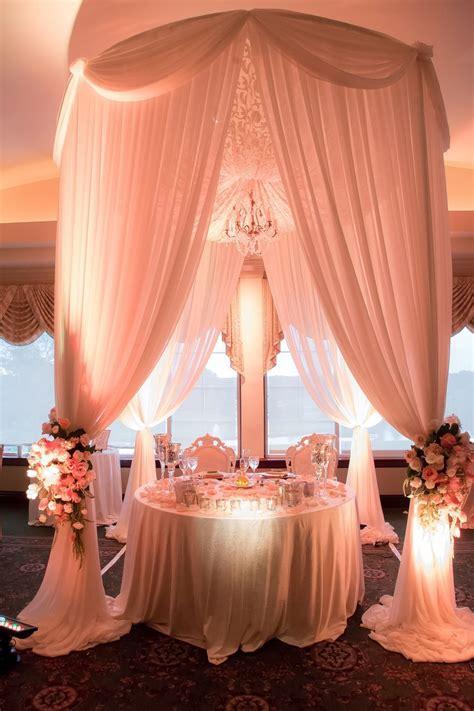 Reception Tent Bouquets Vintage Peach Blush Champagne