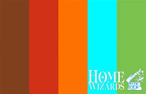 color palette bright oasis home wizards