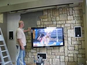 Steinwand Wohnzimmer Tv : wohnzimmer steinwand fernseh ihr traumhaus ideen ~ Bigdaddyawards.com Haus und Dekorationen