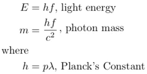 Energy Of Light Equation by Relativity Physics And Science Calculator Some