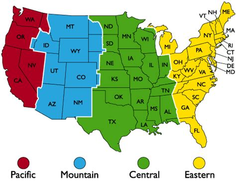 time zone map usa