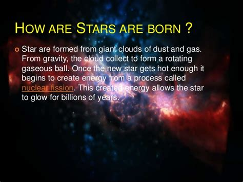 what are stars formed from stars