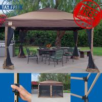 upgraded quictent  ez pop  canopy gazebo party tent  sides  colors ebay