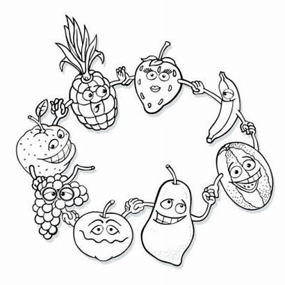 Coloring Fruit Pages Printable Yerli Malı Okul