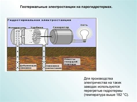 Геотермальные электростанции