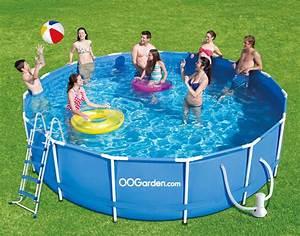Piscine Tubulaire Oogarden : piscine tubulaire ronde bleue pas cher 4 57 x 1 22 m ~ Premium-room.com Idées de Décoration