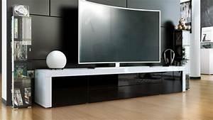 Tv Board Weiß : tv lowboard board schrank tisch m bel la paz in wei hochglanz naturt ne ebay ~ Eleganceandgraceweddings.com Haus und Dekorationen