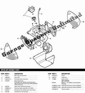 Liftmaster 3850 Belt Drive Operators Replacement Parts