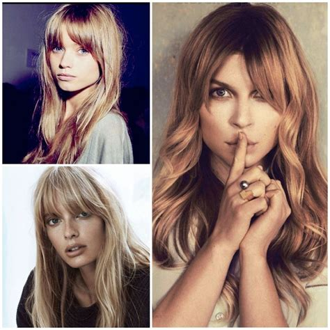 24 best images about hair style center parted bangs