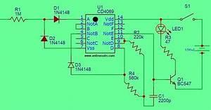 Invisible Broken Wire Detector Circuit Diagram