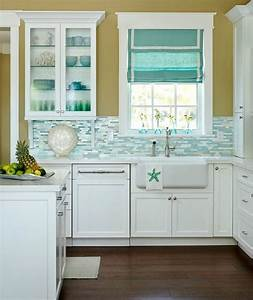 best 25 beach theme kitchen ideas on pinterest seashell With kitchen colors with white cabinets with surfer wall art