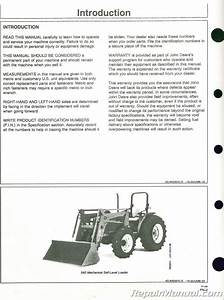 Used John Deere 520 540 Loader Operators Manual