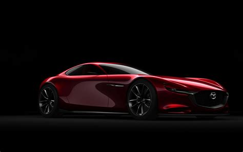 Mazda Rx Vision Concept Side View Red Car Wallpaper