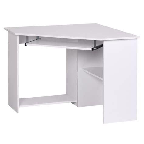 bureau blanc d angle bureau d 39 angle meuble informatique avec tablett achat